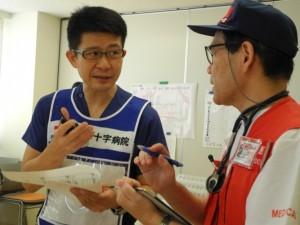岡本医師(GM)と広島DMATの医師